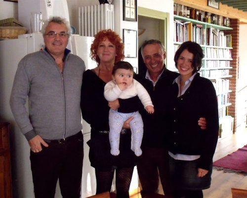 Con Fiorella Mannoia, Giacomo Bubola, nonno Enrico e mamma Erika