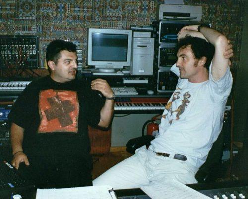 Con il fonico Pinaxa nel 1997 durante i Mix dell'album Mon Trésor