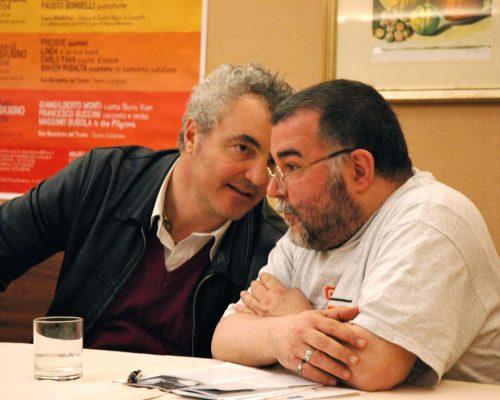 Massimo con il giornalista Giancarlo Susanna