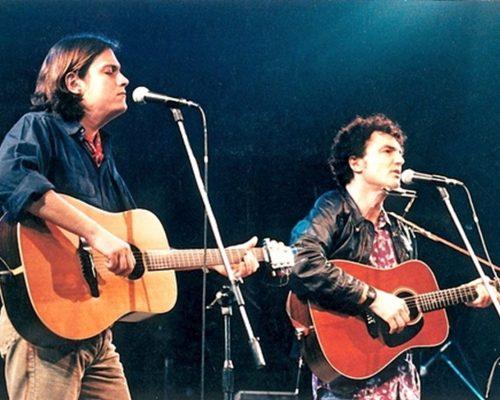 Con Cristiano De Andrè a Recanati nel 1994