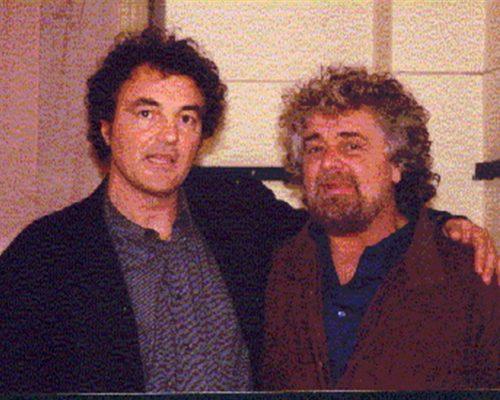 Con Beppe Grillo - ottobre 2002