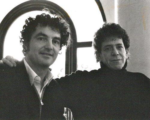 Con Lou Reed a Conegliano durante un reading nel 1994